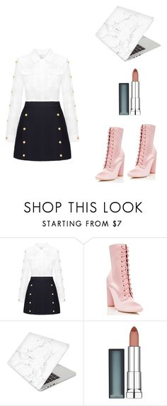 """""""Glamy Time"""" by sara-ohne-stummes-h ❤ liked on Polyvore featuring Cape Robbin, Recover and Maybelline"""