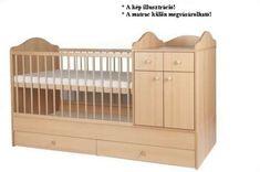 Bogi kombi Kiságy pelenkázó komóddal #bükk 60x120cm Cribs, Bed, Furniture, Home Decor, Products, Cots, Decoration Home, Bassinet, Stream Bed