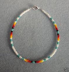 Image detail for -White Turquoise Anklet Ankle Bracelet Native American | eBay