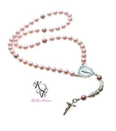 "Mini Pearl Rosary Beads Silver 18/"" Doll Clothes Accessory For American Girl"