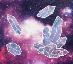 Crystal Space Stickers by JLeonardArt on Etsy