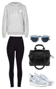 """""""Untitled #417"""" by maritzawaffles on Polyvore featuring adidas, NIKE, Givenchy, Christian Dior, women's clothing, women, female, woman, misses and juniors"""