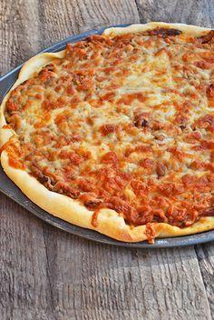 Les gourmandises d'Isa: PIZZA AU PORC EFFILOCHÉ
