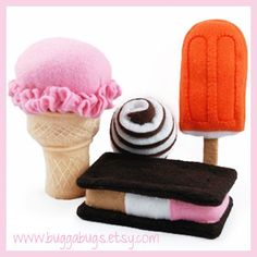 ** PDF Patterns and Instructions ** ★ BUY 5 GET 1 FREE! ★ {Add 6 patterns to your cart and enter code BUY5GET1FREE to get one of them for free!} Beat the heat! The Bugga Bugs ice cream shop just opened for the summer to scoop up these delicious treats. Try the ice cream cone that will