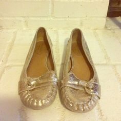Kate Spate Metallic Gold Loafers Kate Spate Metallic Gold Loafers kate spade Shoes Flats & Loafers