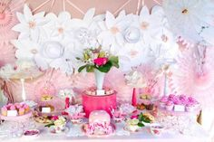 Pink and White High Tea Bridal Shower ideas