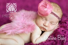Princess Rose Feather Wings - The Couture Baby