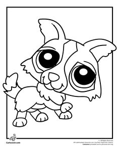 lps coloring pages fox   Littlest Pet Shop Coloring Page   Coloring Pages ...