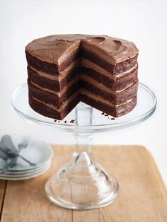 chocolate buttermilk layer cake//