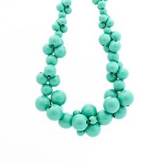 Your place to buy and sell all things handmade Wooden Bead Necklaces, Wooden Beads, Cluster Necklace, Beaded Necklace, Turquoise Necklace, Bubbles, Mint, Unique, Handmade