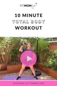 10 Minute Total Body Workout Video #TotalBodyWorkout #WorkoutWithWeights #10MinuteWorkout Natural Hemroid Remedies, Natural Remedies For Migraines, Short Workouts, At Home Workouts, Cardio Workouts, Workout Videos, Workout Tips, Workout Routines, Post Pregnancy Workout