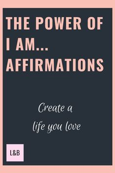 Learn why I am affirmations are so powerful. There's a list of ideas to use and tips to create your own affirmations to help you create the life you want. Affirmations For Women, Positive Affirmations, Positive Messages, Positive Quotes, What Is Affirmation, I Love Mirrors, Manifesting Money, Law Of Attraction Affirmations, Positive Mindset