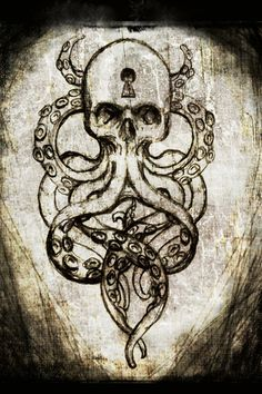 Cthulhu Skull canvas print by ShayneoftheDead on Etsy, $20.00