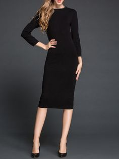 Knitted Cotton Sweater Dress