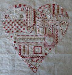 Ma broderie traditionnelle - Points au coeur - Un Chat dans… - Un Chat dans… - LE BLOG DE VAL