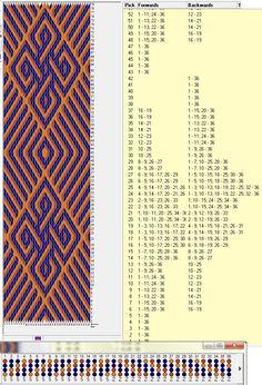 36 tarjetas, 3 colores, repite dibujo cada 42 movimientos // sed_78 ༺❁