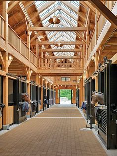 604-two-stride-line: horses-and-ponies: can we just take a minute to look how amazing these barns are A barn with skylights, so ideal!