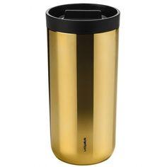 To Go Travel Mug, Brass by Stelton at Dotmaison