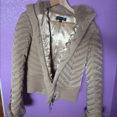 SUPER SOFT BEBE JACKET Never worn before, super soft!!!! So pretty to wear! Pricing is negotiable! :) bebe Jackets & Coats