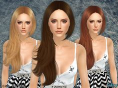 Rochelle Hair Conversion by Cazy at TSR via Sims 4 Updates