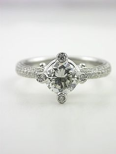 Elegant Diamond Engagement Ring Cool and different!