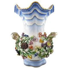 Colossal and Very Impressive Antique Porcelain Vase, Meissen, 19th Century