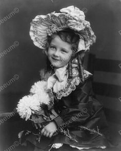 Victorian Little Girl in Ruffles 1800s 8x10 Reprint of Old Photo | eBay