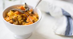 Chickpea Pasta with Roasted Sweet Potato and Sage