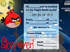 Angry Birds Invitations : Angry Birds Photo Invitations - Superb Invitation - Superb Invitation