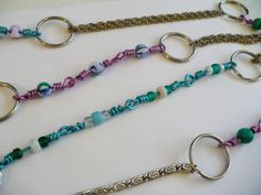 Recycling: mix-and-match necklace, made from upcycled chain and dollar store floral wire!