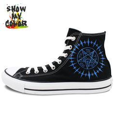fb81fe4b43fc68 Aliexpress.com   Buy All Star Converse Mens Womens Shoes Anime Black Butler  Contract Symbol Custom Design Hand Painted Shoes Boys Girls Sneakers from  ...