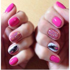 #nails #art #design #pink #white  #nailsart #nailsdesign #colors #summer
