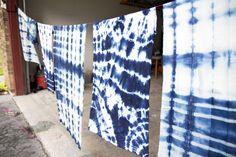 Shibori (indigo tie dye) Tutorial! (via @jenloveskev)