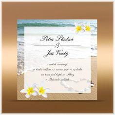 Hawaiian Flowers Custom Black Wedding Invite Pink And