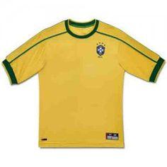 Brazil National Team 1998-2000 Retro Yellow Soccer Jersey Brazil National  Team 1998-2000 Retro Yellow Soccer Jersey  dc0459a1f