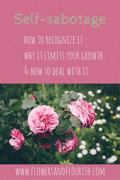Get rid of self-sabotage and start working on your dreams www.flowersandflourish.com