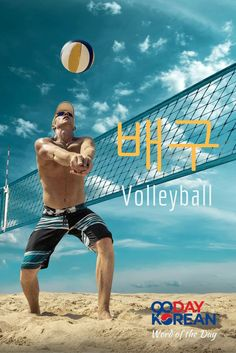 Can you use  (volleyball) in a sentence? Write your sentence in the comments below! #90DayKorean #LearnKoreanFast #KoreanLanguage