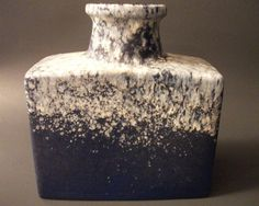 Scheurich 281 19 vase - West Germany Pottery - Blue vase - Fat Lava Scheurich - Square Vase - Blue Ceramic Vase by Kapharnaum on Etsy Lava, Mid Century, Pottery, Ceramics, Ceramic Vase, Germany, Handmade, Stuff To Buy, Artists