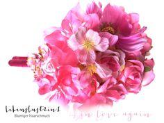 Blütenheadpiece+pink+**LILIANE**+in+love+again+von+Lebenslust2in1+auf+DaWanda.com