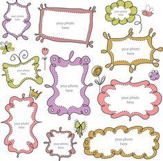 Cute Cartoon lace 01 vector clip art  set - INSTANT DOWNLOAD - high resolution png, png clip art,  lovely clip art