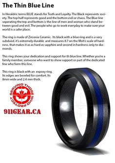 Thin Blue Line Ring | Paracord / Rings
