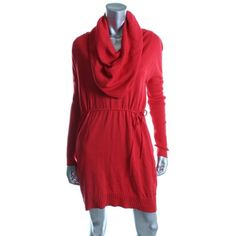 NEW Victoria's Secret Red Multi-way Kiss of Cashmere soft Sweaterdress S $88 #VictoriasSecret #SweaterDress #Casual