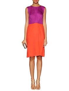 Beatrice Silk Sheath Dress from What to Wear on V-Day: Flirty Dresses on Gilt