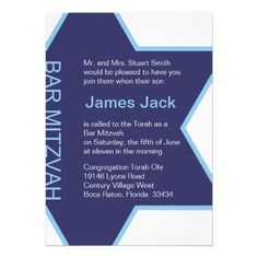 "Star of David Bar Mitzvah - white & blue 5 by 7"" Personalized Invites We have the best promotion for you and if you are interested in the related item or need more information reviews from the x customer who are own of them before please follow the link to see fully reviewsDeal..."