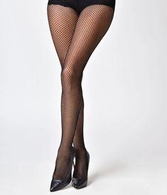10 deniers Collants Noirs avec Gold Lurex Couture S//M