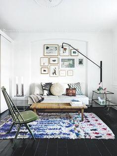 Blue Boucherouite rug