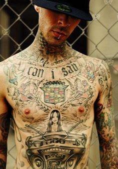 Travis Barker of Blink 182 Travis Barker Tattoos, Love Tattoos, Tattoos For Guys, Beautiful Tattoos, Beautiful Men, Beautiful People, Pretty People, Randy Cunningham, Blink 182