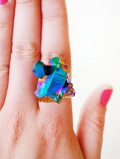 scilia rainbow crystal ring #littleadditions