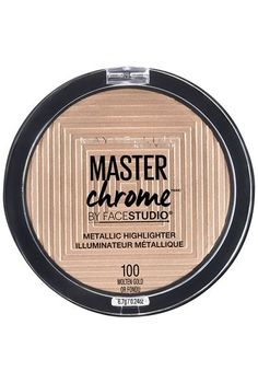 Facestudio® Master Chrome™ Metallic Highlighter - Heat up your look with a warm metallic sheen. Features reflective pigments for an eye-catching chrome effect.