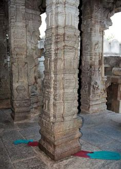The pillar at Lepakshi temple - Mythical India